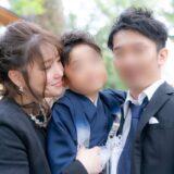 七五三の笑顔あふれる家族写真